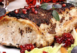 Cotlet de porc la tavă cu sos de rodie