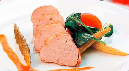 Limba de porc cu sos picant