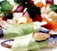 Peşte cu legume la cuptor