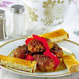 Chiftele de carne cu fulgi de ovăz
