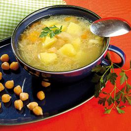 Ciorbă de cartofi cu năut