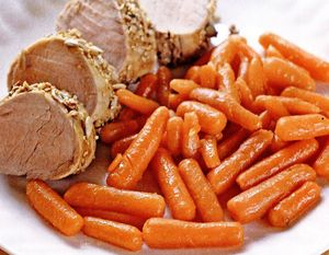 File de porc în crustă de muştar