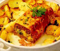 Friptură tocată umplută cu cartofi si cascaval
