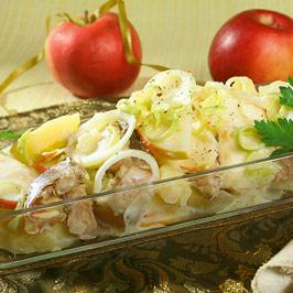 Salată de cartofi cu peşte afumat