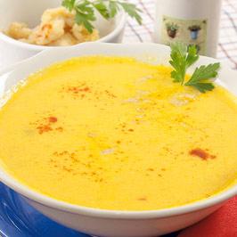 Supă-cremă de peşte cu iaurt