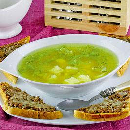 Supă cu figurine de ou
