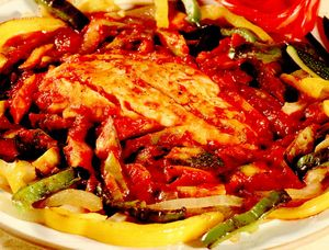 File de peşte cu legume
