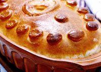 Plăcintă cu paste si ciuperci