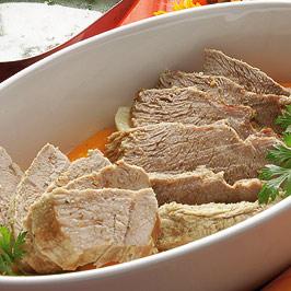 Rasol de viţel cu sos de tarhon