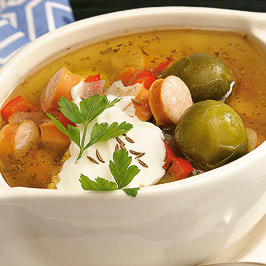 Supă cu verzişoare de Bruxelles
