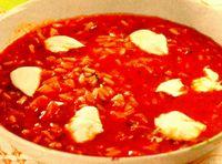 Supă de roşii cu orez roşu
