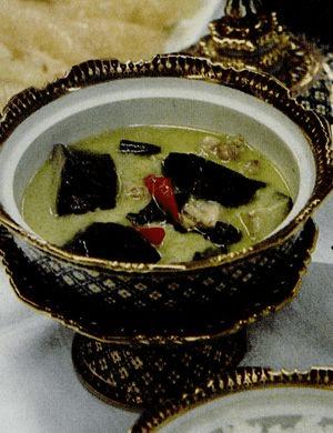 Curry verde cu pui