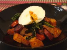 Mancare de cartofi cu oua