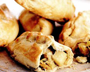 Pacheţele cu praz, brânză şi cartofi