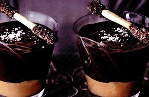 Păhărele cu ciocolată şi caramel sărat