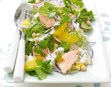 Salată de fenicul, creson şi portocale
