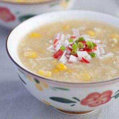 Supa de porumb cu iaurt si curry