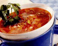 Supă picantă cu sos de soia
