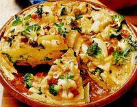 Tortilla picantă cu conopida si broccoli