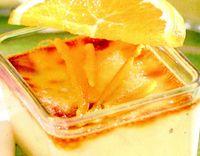 Cremă catalană cu portocale
