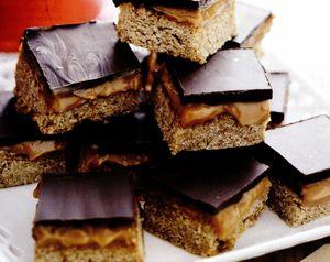 Pătrăţele cu ciocolată şi caramel