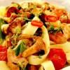 Tagliatelle_cu_ciuperci_rosii_cherry_si_verdeata
