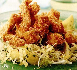 Salată caldă de pui cu susan