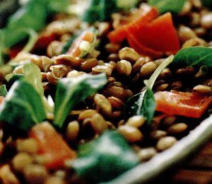 Salata de linte cu prosciutto