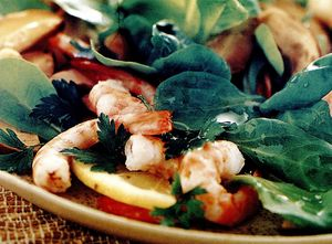Salata de manatarci cu creveti
