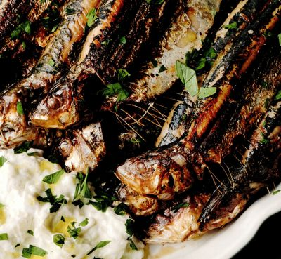 Sardine la grătar cu tzatziki