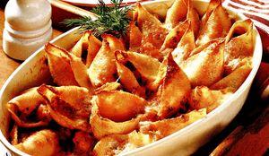Cochilii cu brânză şi ciuperci
