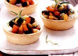 Minitarte cu legume