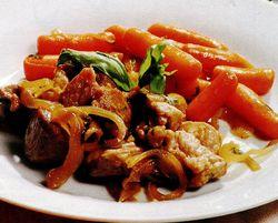 Porc cu morcov si tarhon