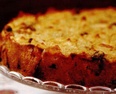 Prăjitură cu mălai şi măr
