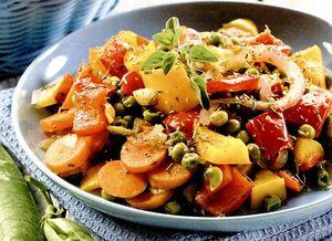 Retete de post: Salată caldă de legume