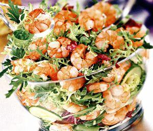 Salată verde cu creveti