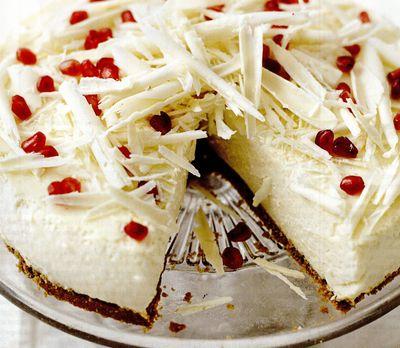 Cheesecake cu ciocolată albă şi ricotta