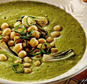 Supă-cremă de legume, cu năut