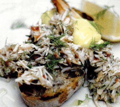Crostini delicioase de crab