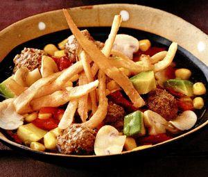 Perişoare cu legume şi fâşii crocante de tortilla