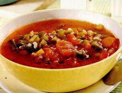 Supă de fasole verde cu dovlecei