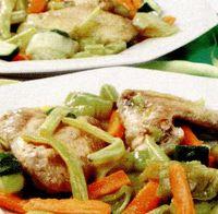 Aripioare cu legume si sos