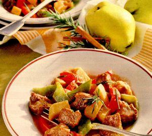 Mâncare cu gutui si rozmarin