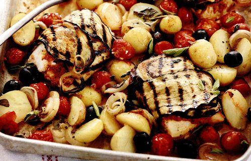 Peste cu legume in stil provensal