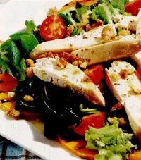 Salată de pui cu dovleac la grătar