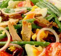Salata de ton cu fasole verde si cartofi