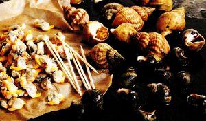 Scoici cardium şi melci de mare