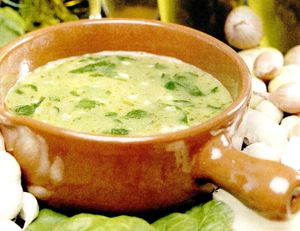 Supa de spanac cu lamaie