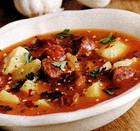 Supa cu carnat afumat si zarzavat