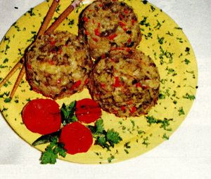 Pilaf cu mazare si ciuperci